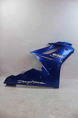 TRIUMPH DAYTONA 675 09 12 RIGHT SIDE UPPER FAIRING COWL RASH BLUE T230