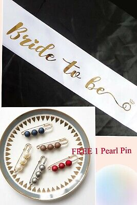 Bride To Be Sash Bachelorette Party Shower Wedding Decorations Accessories Gifts
