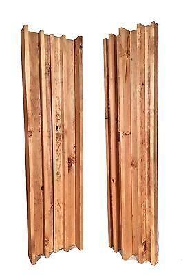 COLUMN SLAT DIFFUSER PAIR - Golden Pecan (4ft x 1ft)