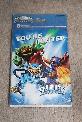 SKYLANDERS INVITATIONS AND THANK YOU CARDS ~ Birthday Party Supplies](Skylanders Invitations)
