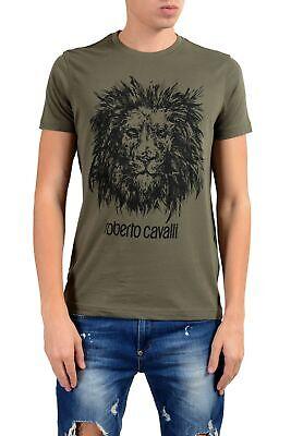 Roberto Cavalli Men's Green Graphic Lion Crewneck T-Shirt Size S M L XL (Roberto Cavalli Man)
