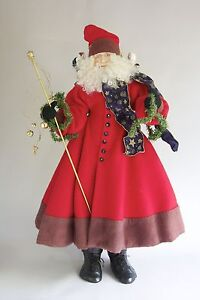 "Whimsical St. Nicholas figures hand-made 30"" tall"