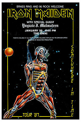 Heavy Metal: Iron Maiden * Somewhere in Time * Tour Concert Poster 1987  12x18
