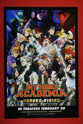My Hero Academia Heroes Rising Anime Manga Picture Promo Poster 24X36 New  MHAR