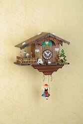 German Black Forest Swiss House clock Quartz movement cuckoo rotating dancers