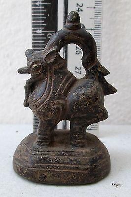 SUPERB! 19th.c Bronze Singh Lion Opium Weight 170.g
