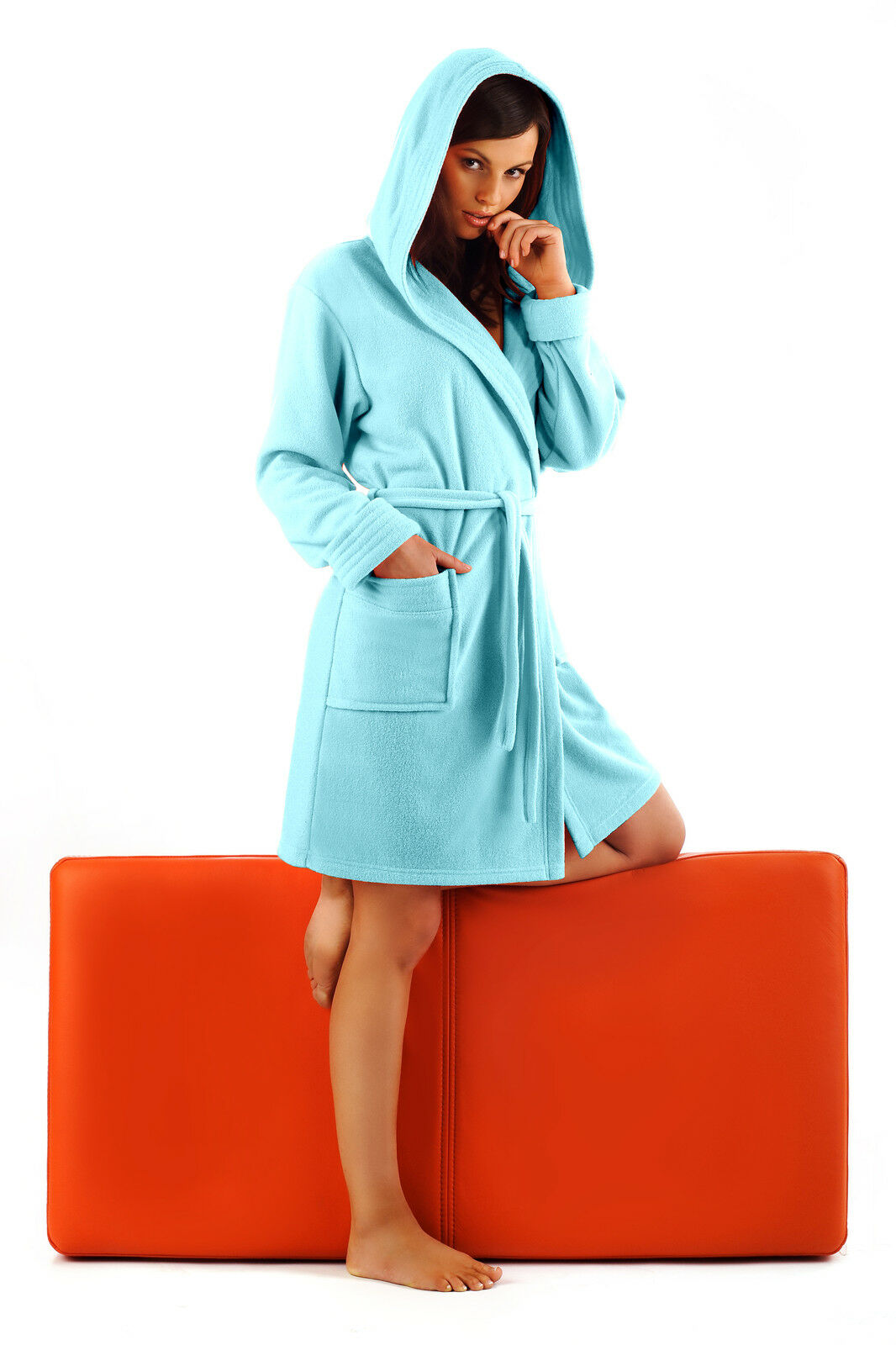 New Hooded Bathrobe Housecoat Dressing Gown for Women UK Robe Size 8 10 12  14 bf4659308