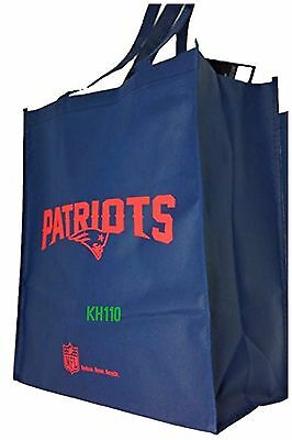 Nfl New England Patriots Reusable Shopping  Grocery Bag