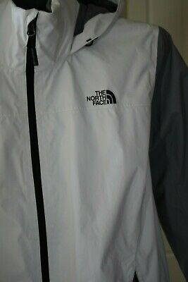 NORTH FACE ~ RESOLVE 2 ~ WHITE & GRAY ~ WATERPROOF SHELL DRY VENT ~ WOMEN'S XL
