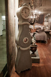 BEAUTIFUL COUNTRY COTTAGE GREY MORA REPRODUCTION 76 TALL FLOOR CLOCK