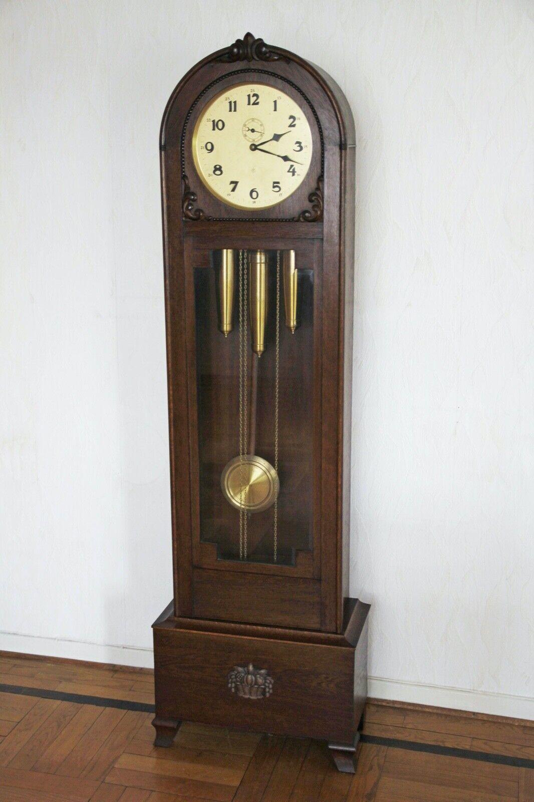 Antike Junghans Standuhr P112 Westminster- Schlag Zentralsekunde Sekundenpendel