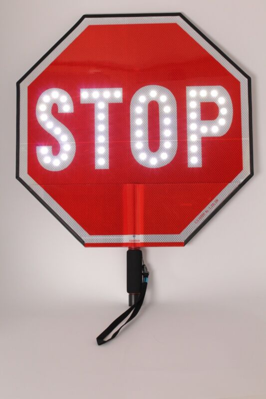 """LED 18"""" Stop/Stop Paddle w/battery and charger. Used"""