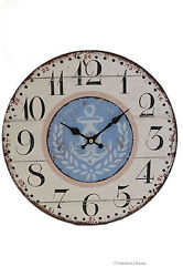 13 Large Wood Vintage-Style Anchor Nautical Yacht Sea Wall Clock