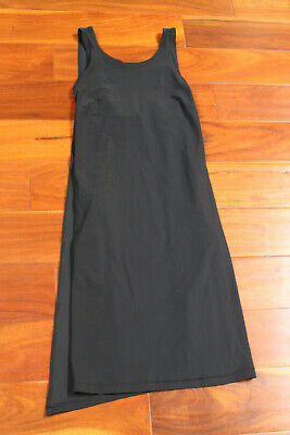 NWT Lululemon Early Morning Dress Crossover Pockets BLK Black Open Back 6 $118