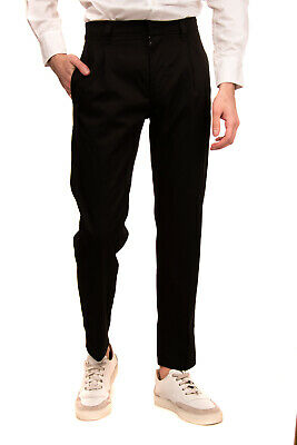 RRP €140 DEPARTMENT 5 Tailored Trousers Size 29 Pleated Cropped Made in Italy