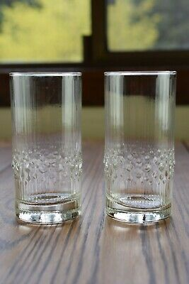 "2 Iittala Crystal Mesi 5 1/4"" Highball Tumbler Glasses"