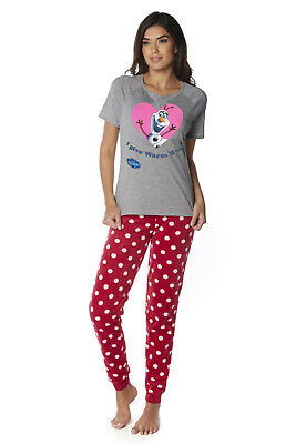 Disney's Frozen / Olaf Women's Size Medium Grey Pyjama T-Shirt Top