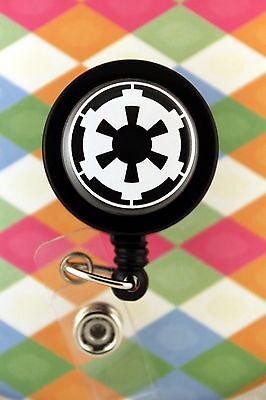 Retractable Badge Reel Name Tag ID Pull Clip Holder Imperial Forces Star Wars
