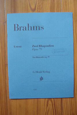 Johannes Brahms. Zwei Rhapsodien, opus 79 - Klavier   - Mängelexemplar