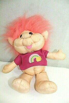 INTERNATIONAL CO. troll plush pink hair pink shirt 3 & up great condition Great China International Plush