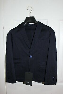 Paolo Pecora Kids Tailored Blazer One Button - Navy Blue Size 9 *NEW w/ Tag*