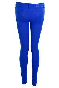New Ladies Skinny Fit Coloured