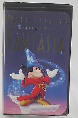 WALT DISNEY'S FANTASIA MASTERPIECE VHS 1991 Christmas Lead 08/20/91
