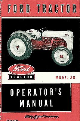 Ford Tractor Model 8N Operators Manual 1948 1952  Coil Binding Large Version