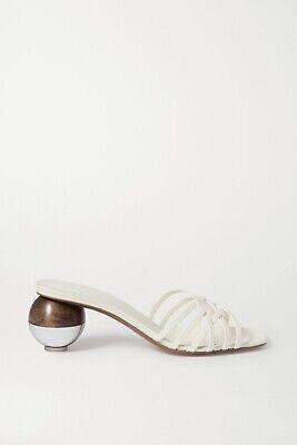 NEOUS Cream White Calpa Leather Sculpture Heels - EU 38 / UK 5 *NEW IN BOX*