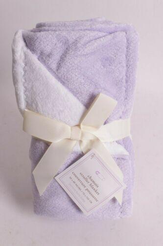 NWT Pottery Barn Kids Chamois solid lavender purple stroller baby blanket crib