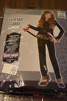 Leopard Grrrl Girl's Halloween Costume Child's Large 12-14