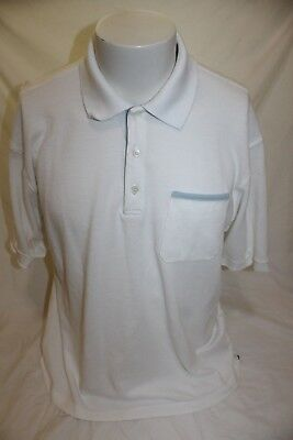 Dunhill Links Men's White Polo Shirt Size XL Made in Italy CA52838