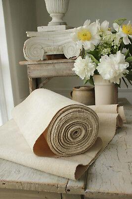 HEMP fabric antique linen over 15 yards bolt PURE HEMP natural organic material
