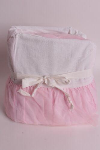 New Pottery Barn Kids Pink Tulle Crib Skirt, nursery