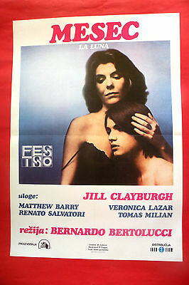 LA LUNA 1980 BERNARDO BERTOLUCCI JILL CLAYBURGH  MATTHEW BARRY EXYU MOVIE POSTER
