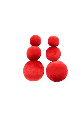 Statement Red Round Zara Earrings Bloggers Fav