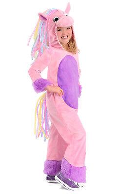 Rainbow Pony Horse Princess Paradise Costume Pink Child Girls 3T 3 4T 4 5 6 XS S