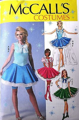 McCALL's M7101 MISSES COSPLAY FAIRY COSTUME DRESS CAPE SEWING PATTERN SIZE 12-20