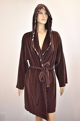 KIMORA LEE SIMMONS BABY PHAT DARK BROWN  HOODED BATH ROBE SIZE M - Brown Hooded Robe