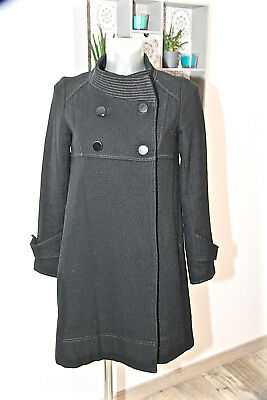 luxurious coat caban wool black MAJE size 36 fr 40i VALUE for sale  Shipping to United States