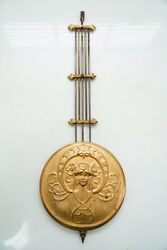 ANTIQUE HIGH QUALITY ART NOUVEAU AUSTRIAN / BAVARIAN WALL CLOCK PENDULUM