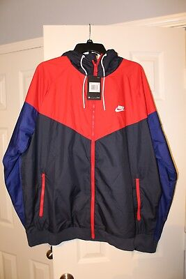3b2326278f6a31 NWT Nike Windrunner Hooded Jacket Obsidian University Red Size XXL  727324-452