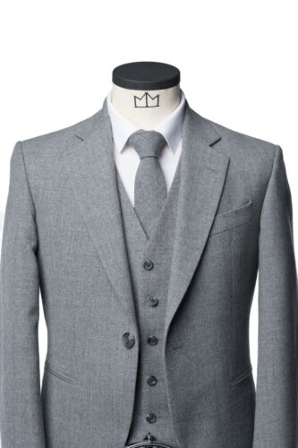 Light Grey Lomond Tweed Kilt Jacket (Ex-Hire)