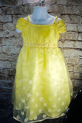 BCX Girls Dress Special Occasion Yellow Chiffon Size 4
