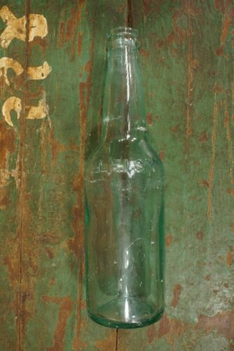 Antique Leisy Peoria Illinois Brewery Beer Bottle Depression Glass Green