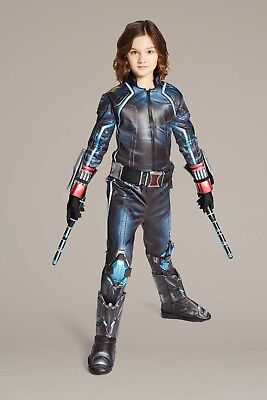 Marvels Ultimate Black Widow® Costume For Kids Size 8-10 PLUS Fighting Batons! - Black Widow Costumes For Kids