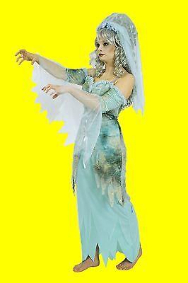 2tlg Damen Mädchen Kostüm MEDUSA Geister Nixe Hexe Zauberin Geist Gespenst Kleid (Gespenst Geist Kostüm)