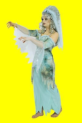 2tlg Damen Mädchen Kostüm MEDUSA Geister Nixe Hexe Zauberin Geist Gespenst Kleid ()