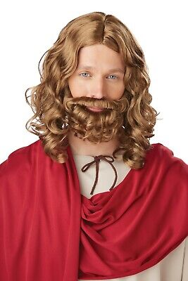 Jesus God Christ Religious Biblical Adult Costume Beard and Wig - Costumes Beards