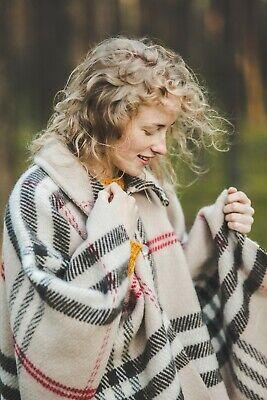 Poncho Band (Poncho Mit Halsband Damen Schal ärmel 130x190 Wolle Cape Strickjacken britisch)